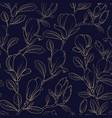 magnolia blooming flower vector image vector image