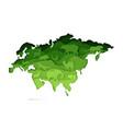 mainland eurasia map with wildlife vector image