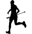 man running mountain marathon vector image vector image