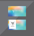 mesh blue and pink business card vector image