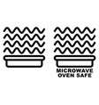 microwave safe container icon simple black lines vector image
