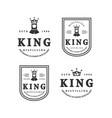 minimalist abstract crown king logo vector image vector image
