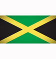 national flag jamaica vector image vector image