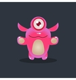 One-eyed Pink Alien vector image vector image