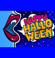 open mouth and happy halloween message vector image vector image