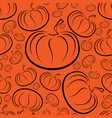 outline pumpkins seamless pattern pumpkin vector image
