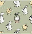 pattern of the easter symbols vector image