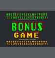 pixel font design stylized like in 8-bit vector image vector image
