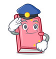 police diary character cartoon style vector image