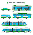 public eco transport municipal city ecologically vector image