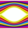 Rainbow Colored Stripes Banner Abstract Background vector image