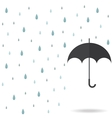 raindrop background with black umbrella vector image