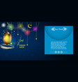 ramadan kareem greeting or invitation card vector image