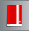 red gradient cover background for the banner vector image vector image