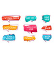 sale speech bubble set for shop vector image vector image