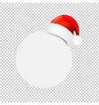 santa claus cap with ball banner transparent vector image vector image