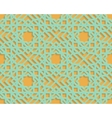 Seamless blue arabic geometric pattern on orange vector image vector image