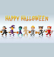 set of cute cartoon childre vector image vector image
