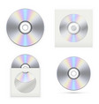 set of the cd disks vector image vector image