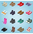 Shoe set icons isometric 3d style vector image vector image