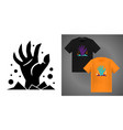 spooky halloween design elements for t-shirt vector image