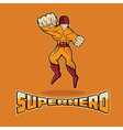 Superhero in Action design template vector image