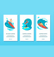 surfing isometric banners vector image vector image