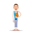 teacher or coach with basketball vector image