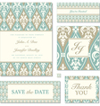 Victorian wedding invitation set vector | Price: 1 Credit (USD $1)