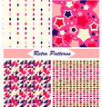 Vintage Retro Patterns vector image vector image