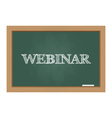 Webinar text on chalkboard vector image vector image