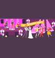 wedding party vector image vector image