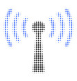 wi-fi station halftone icon vector image vector image