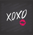 xoxo brush lettering sign grunge calligraphic vector image vector image