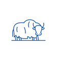 yak line icon concept yak flat symbol vector image vector image
