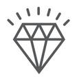 diamond line icon expensive and luxury vector image