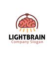 Light Design Brain vector image