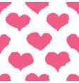 ink brush drawn heart pattern vector image