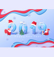 2019 merry christmas and happy new year background vector image
