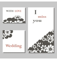 a set of invitation cards vector image vector image