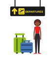 airport concept design vector image vector image