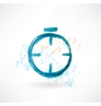 alarm clock grunge icon vector image