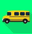 american kid school bus icon flat style vector image vector image
