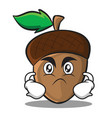 angry acorn cartoon character style vector image vector image