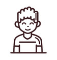 avatar male man portrait cartoon character line vector image vector image