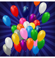 balloons background blue vector image vector image