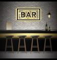 Bar pub interior