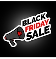 Black Friday sale sticker with megaphone Black vector image
