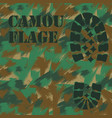 camouflage boot print texture pattern vector image vector image