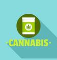 cannabis pill box logo flat style vector image
